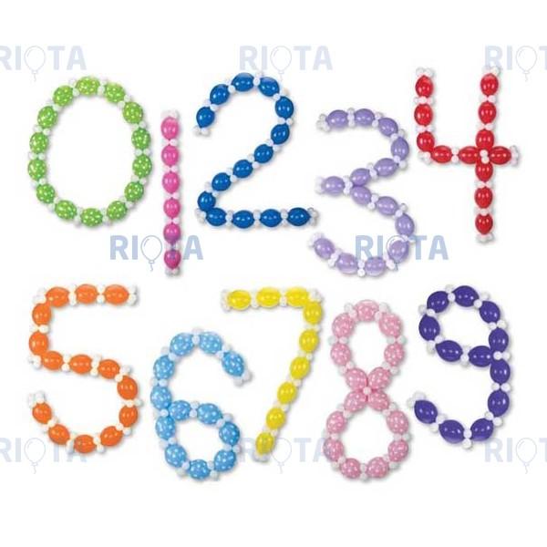 Как сделать своими руками из шаров цифру 5